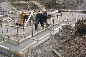 Fab-Form Fastfoot Prevents Concrete Damage, Fabric Formwork for concrete footings and pad edging in MA