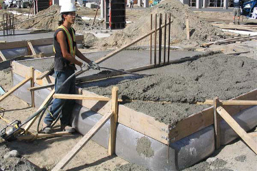 Fab-Form Fastfoot Forms Deep Footings, Fabric Formwork for concrete footings and pad edging in MA
